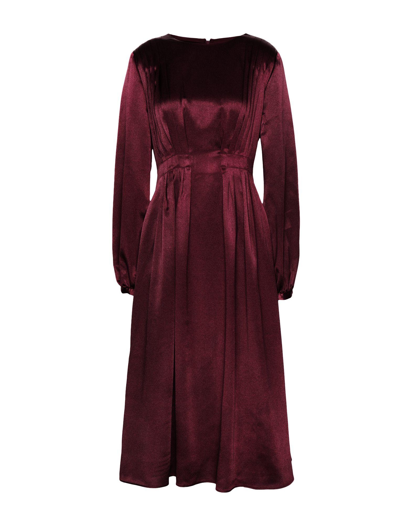 8 by YOOX Платье длиной 3/4 платье с рукавами в 3 4 gloss