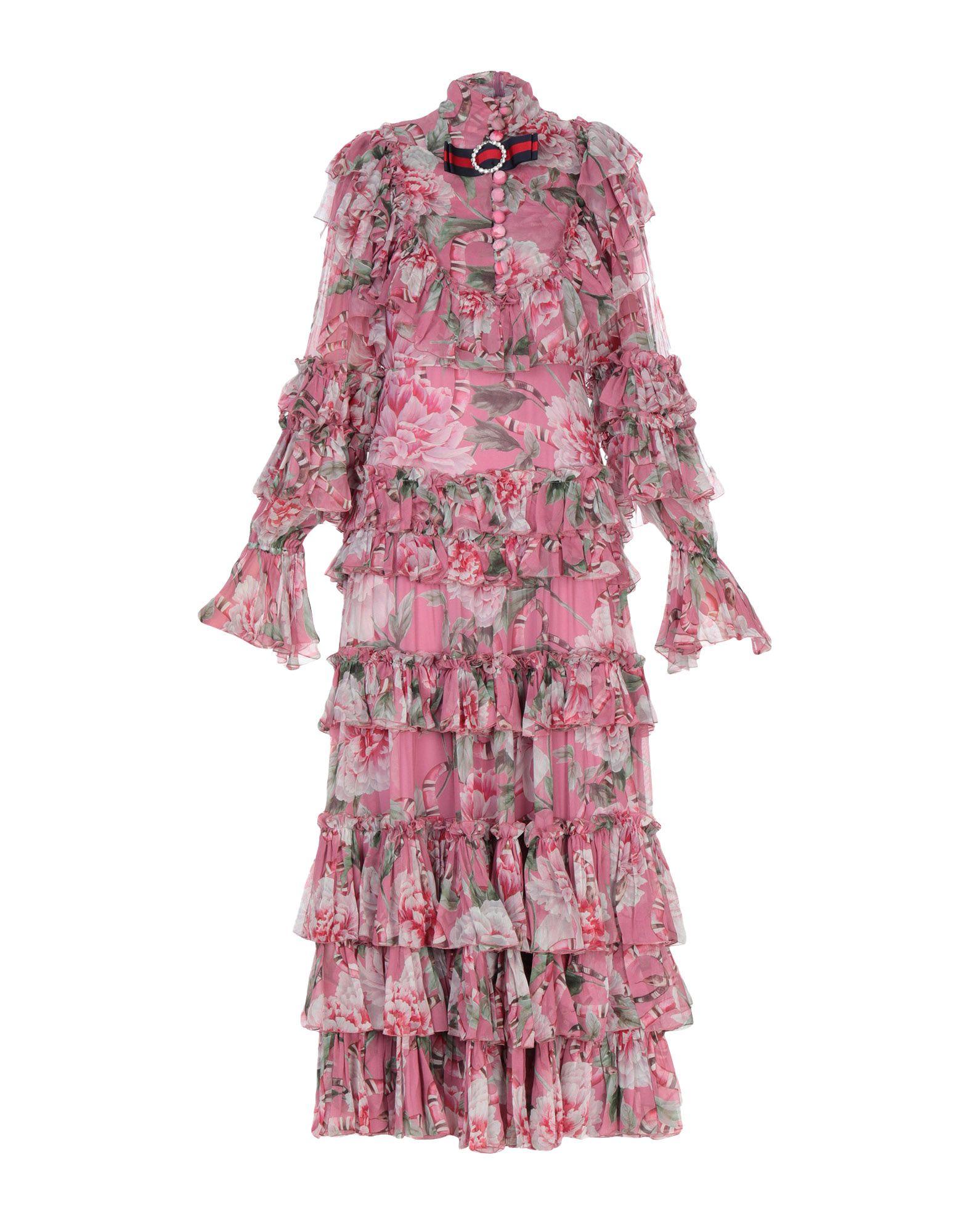 GUCCI Damen Langes Kleid Farbe Altrosa Größe 4