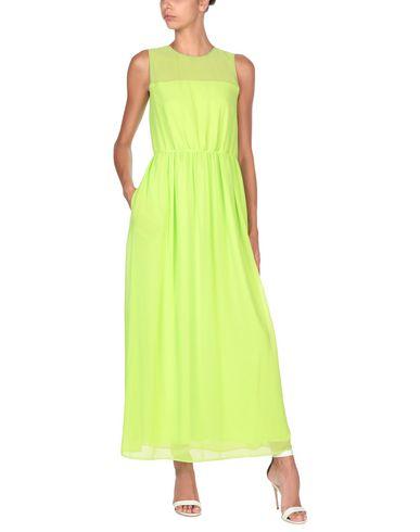 Купить Женское длинное платье BLUE LES COPAINS кислотно-зеленого цвета