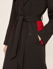 ARMANI EXCHANGE CONTRAST-LINED FLUID TRENCH Coat [*** pickupInStoreShipping_info ***] b