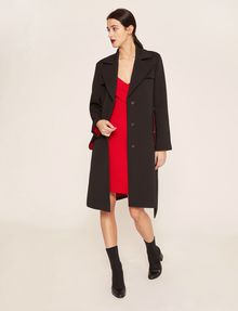 ARMANI EXCHANGE CONTRAST-LINED FLUID TRENCH Jacket Woman d