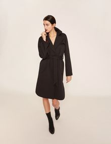 ARMANI EXCHANGE CONTRAST-LINED FLUID TRENCH Coat [*** pickupInStoreShipping_info ***] f