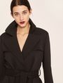 ARMANI EXCHANGE CONTRAST-LINED FLUID TRENCH Jacket Woman a