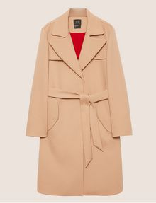 ARMANI EXCHANGE CONTRAST-LINED FLUID TRENCH Jacket Woman r