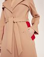 ARMANI EXCHANGE CONTRAST-LINED FLUID TRENCH Jacket Woman b