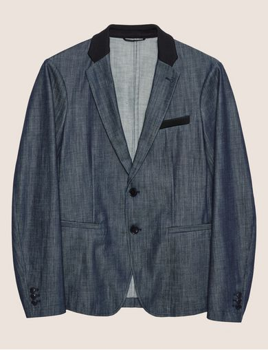DARK INDIGO DENIM TUX BLAZER