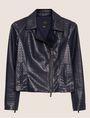 ARMANI EXCHANGE PYRAMID-EMBOSSED BIKER JACKET Blouson Jacket Woman r