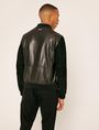 ARMANI EXCHANGE SUEDE-SLEEVE LEATHER VARSITY JACKET Blouson Jacket Man e
