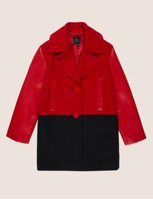ARMANI EXCHANGE GIRLS WOOL-BLEND COLORBLOCKED PEA COAT Coat [*** pickupInStoreShipping_info ***] f