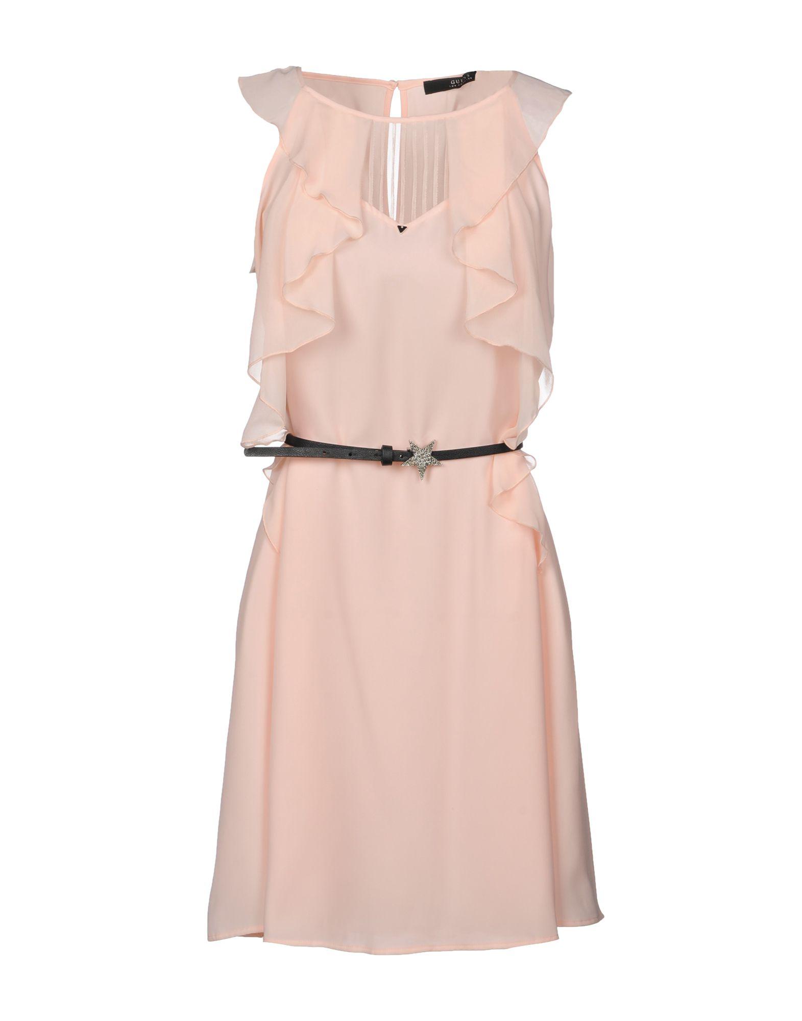 GUESS Короткое платье guess ремень