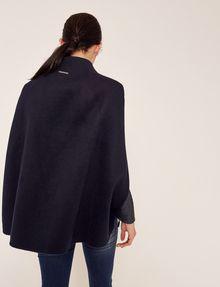 ARMANI EXCHANGE REVERSIBLE DOUBLE-FACE WOOL BLEND CAPE Jacket Woman e
