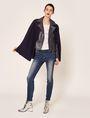 ARMANI EXCHANGE REVERSIBLE DOUBLE-FACE WOOL BLEND CAPE Jacket Woman d