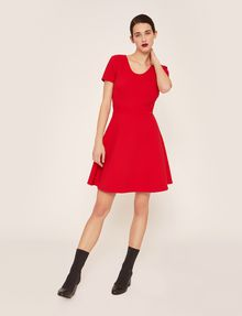 ARMANI EXCHANGE CUTOUT CROSS-BACK FIT-AND-FLARE Midi dress Woman d