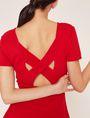 ARMANI EXCHANGE CUTOUT CROSS-BACK FIT-AND-FLARE Midi dress Woman b
