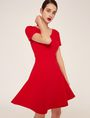 ARMANI EXCHANGE CUTOUT CROSS-BACK FIT-AND-FLARE Midi dress Woman f