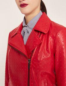 ARMANI EXCHANGE PYRAMID-EMBOSSED BIKER JACKET Blouson Jacket Woman b