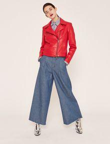 ARMANI EXCHANGE PYRAMID-EMBOSSED BIKER JACKET Blouson Jacket Woman d