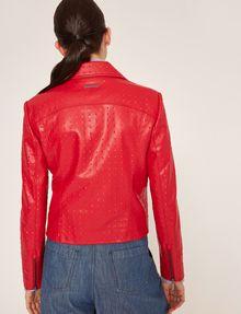 ARMANI EXCHANGE PYRAMID-EMBOSSED BIKER JACKET Blouson Jacket Woman e