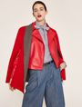 ARMANI EXCHANGE PYRAMID-EMBOSSED BIKER JACKET Blouson Jacket Woman a