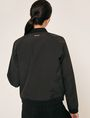 ARMANI EXCHANGE LOGO TAPE ZIPPERED BOMBER JACKET Blouson Jacket Woman e