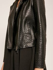 ARMANI EXCHANGE GIACCA BIKER CON PIRAMIDI GOFFRATE Blouson [*** pickupInStoreShipping_info ***] b
