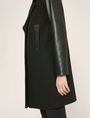 ARMANI EXCHANGE COLORLOCKED FAUX-LEATHER SLEEVE PEA COAT Coat [*** pickupInStoreShipping_info ***] b