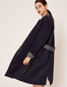 ARMANI EXCHANGE DOUBLE-FACE WOOL BLEND COAT Jacket Woman a