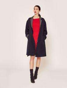 ARMANI EXCHANGE DOUBLE-FACE WOOL BLEND COAT Jacket Woman d
