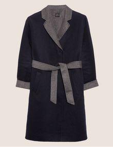 ARMANI EXCHANGE DOUBLE-FACE WOOL BLEND COAT Jacket Woman r