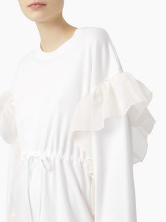 Robe t-shirt en coton à volants