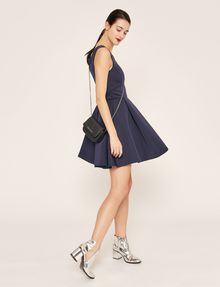 ARMANI EXCHANGE SATIN BOX-PLEAT FIT-AND-FLARE Mini dress [*** pickupInStoreShipping_info ***] a
