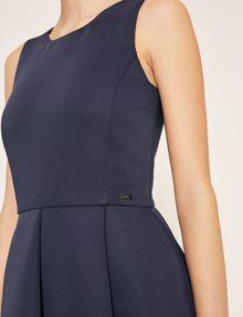 ARMANI EXCHANGE SATIN BOX-PLEAT FIT-AND-FLARE Mini dress Woman b
