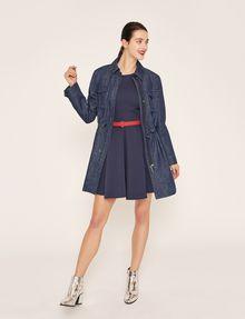 ARMANI EXCHANGE SATIN BOX-PLEAT FIT-AND-FLARE Mini dress Woman d