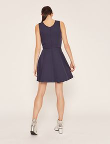 ARMANI EXCHANGE SATIN BOX-PLEAT FIT-AND-FLARE Mini dress [*** pickupInStoreShipping_info ***] e