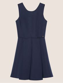 ARMANI EXCHANGE SATIN BOX-PLEAT FIT-AND-FLARE Mini dress [*** pickupInStoreShipping_info ***] r