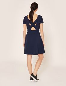 ARMANI EXCHANGE CUTOUT CROSS-BACK FIT-AND-FLARE Midi dress Woman e
