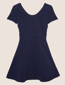 ARMANI EXCHANGE CUTOUT CROSS-BACK FIT-AND-FLARE Midi dress Woman r