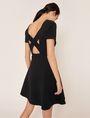 ARMANI EXCHANGE CUTOUT CROSS-BACK FIT-AND-FLARE Midi dress Woman e