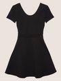 ARMANI EXCHANGE CUTOUT CROSS-BACK FIT-AND-FLARE Midi dress Woman r