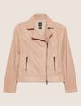 ARMANI EXCHANGE PEBBLED LEATHER MOTO JACKET Blouson Jacket Woman r