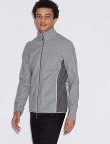 ARMANI EXCHANGE COLORBLOCKED ZIP-UP TRACK JACKET Sweatshirt Man f