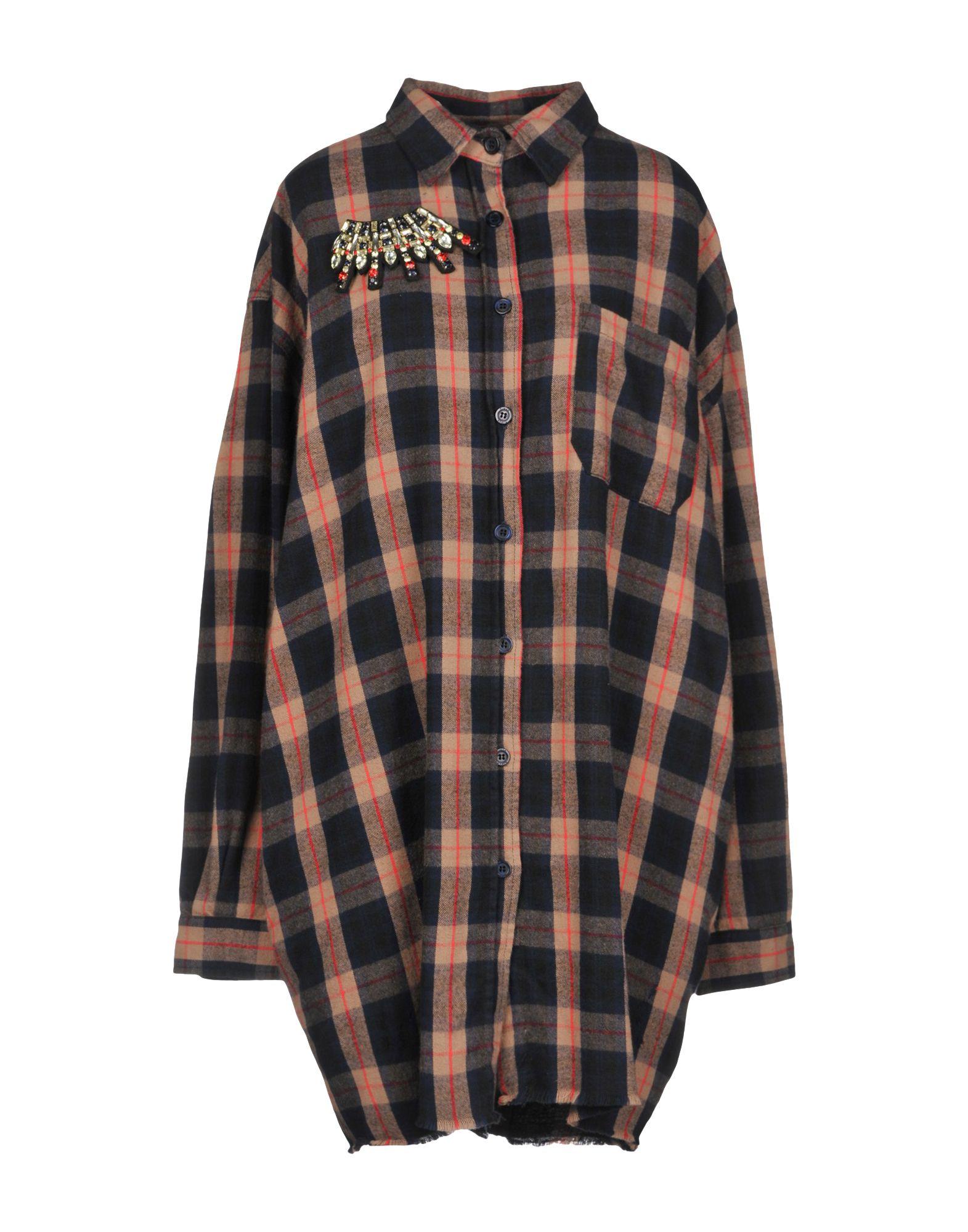 《送料無料》P_JEAN レディース ミニワンピース&ドレス キャメル 44 コットン 100%