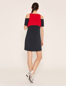 ARMANI EXCHANGE COLORBLOCKED COLD-SHOULDER DRESS Mini dress [*** pickupInStoreShipping_info ***] e