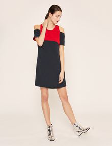 ARMANI EXCHANGE COLORBLOCKED COLD-SHOULDER DRESS Mini dress [*** pickupInStoreShipping_info ***] f