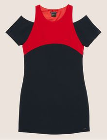 ARMANI EXCHANGE COLORBLOCKED COLD-SHOULDER DRESS Mini dress [*** pickupInStoreShipping_info ***] r