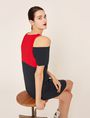 ARMANI EXCHANGE COLORBLOCKED COLD-SHOULDER DRESS Mini dress [*** pickupInStoreShipping_info ***] a