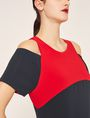 ARMANI EXCHANGE COLORBLOCKED COLD-SHOULDER DRESS Mini dress [*** pickupInStoreShipping_info ***] b