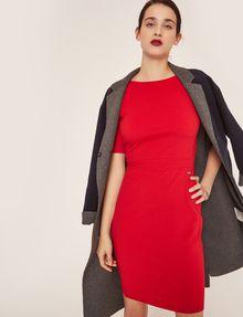 ARMANI EXCHANGE BOATNECK SCOOP-BACK BODYCON DRESS Midi dress Woman a