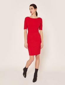 ARMANI EXCHANGE BOATNECK SCOOP-BACK BODYCON DRESS Midi dress Woman d