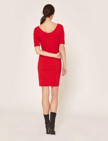 ARMANI EXCHANGE BOATNECK SCOOP-BACK BODYCON DRESS Midi dress Woman e